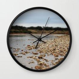 river rocks Wall Clock