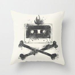 rock mixtape Throw Pillow