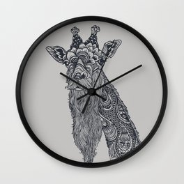 Giraffe Movember Wall Clock