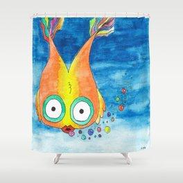 Rainbow Bubble Fish Shower Curtain