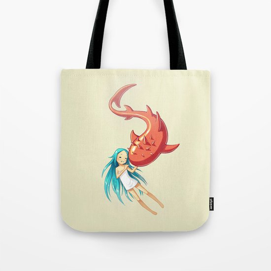 Red Whale Tote Bag