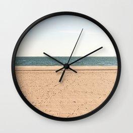 Sand, sea, sky Wall Clock