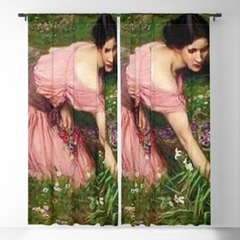 Spring Spreads One Green Lap of Flowers by John William Waterhouse Blackout Curtain
