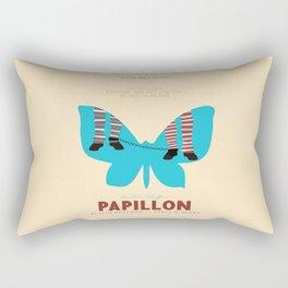 Papillon, Steve McQueen vintage movie poster, retrò playbill, Dustin Hoffman, hollywood film Rectangular Pillow