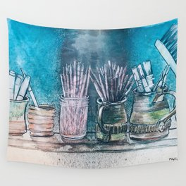 The Artist's Shelf Wall Tapestry