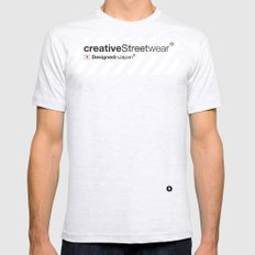 WhiteStripes Mens Fitted Tee SMALL Ash Grey