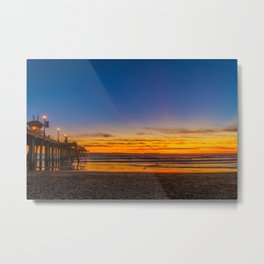 Where Blue and Golden Hours Meet Metal Print