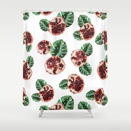 Pomegranate 1.0 Shower Curtain