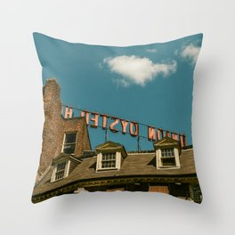 On the Rooftop Throw Pillow