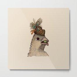 Bird in Hat 3 Metal Print