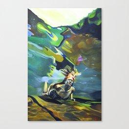 The Haystacks Canvas Print