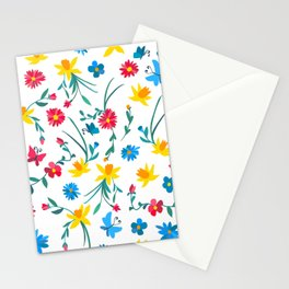 Coloful flowers Stationery Cards