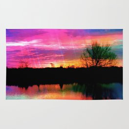 Watercolor January Texas Sunrise Rug