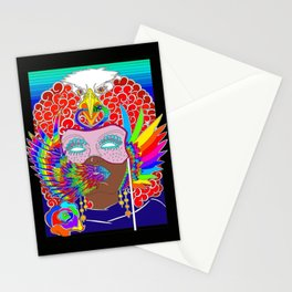 Colorful Masquerade Angel Stationery Cards