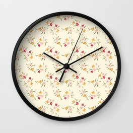Wes Anderson Inspired Floral Bouquets Wall Clock