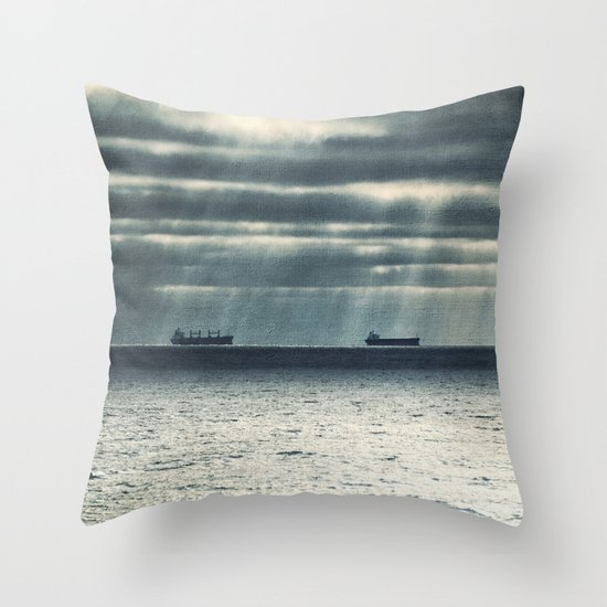 Morning Race Throw Pillow