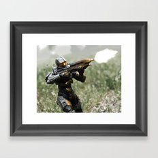 Covering Fire Framed Art Print