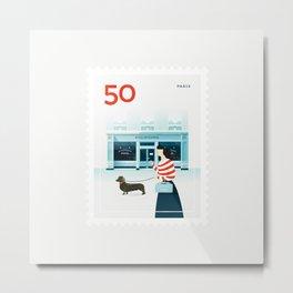 Stamp : Cities #5 - Paris Metal Print