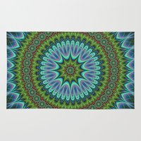 mandala Area & Throw Rugs featuring Mandala by David Zydd