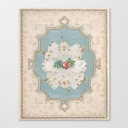 Lace Paper Valentine  Attributed to Esther Howland (American, Worcester 1828–1904 Quincy, Massachuse Canvas Print