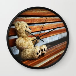 Abandoned Bear Wall Clock