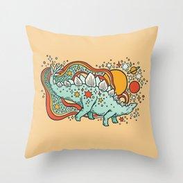 Star Stego | Retro Reptile Palette Throw Pillow