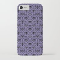 haunted mansion iPhone & iPod Cases featuring Haunted Mansion Wallpaper by MiliarderBrown