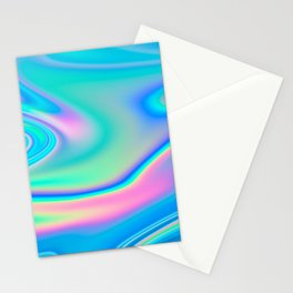 Holographic Iridescent Chill Vibes Stationery Cards