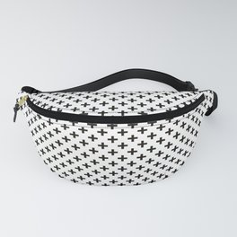 Crosses | Criss Cross | Plus Sign | Hygge | Scandi | Black and White | Fanny Pack