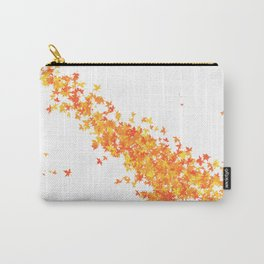 Maple Leaves on White Carry-All Pouch