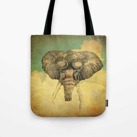 Gas mask for elephant Tote Bag