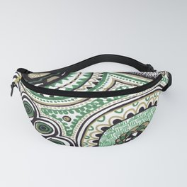 Green and Gold Rings Fanny Pack