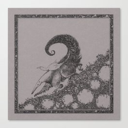 Sweet ride, egret! Canvas Print