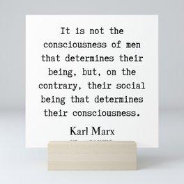 10   | Karl Marx Quotes | 190817 Mini Art Print