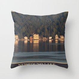 Houses on the Newfound Lake Throw Pillow