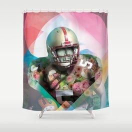 Football, Abe! Shower Curtain