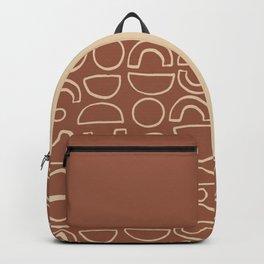 Geometric Shapes Pattern in Terracotta Backpack