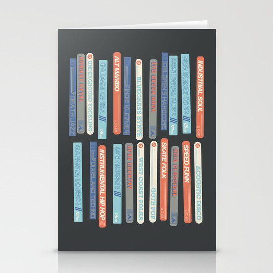 Music Snob Stationery Cards
