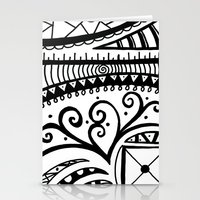 zentangle Stationery Cards featuring Zentangle by Wealie