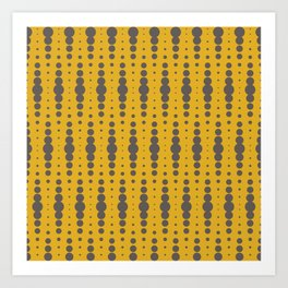 Yellow Blobby Squibbles Art Print