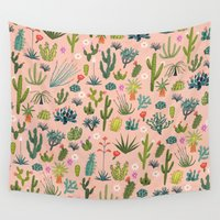 arizona Wall Tapestries featuring Arizona Cacti by carriehobson