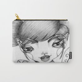 JennyMannoArt Graphite Illustration/Tessa Carry-All Pouch