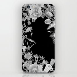 Stardust Black and White Floral Motif iPhone Skin