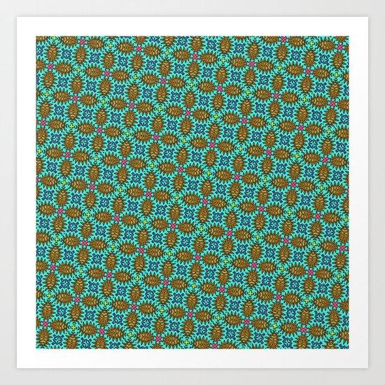 Thorny Pattern Art Print