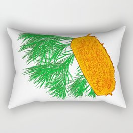 Banksia Floral Illustration - Australian Flora Rectangular Pillow