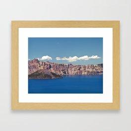 Crater Lake, Mount Mazama, Oregon, Northwest Mountain Framed Art Print