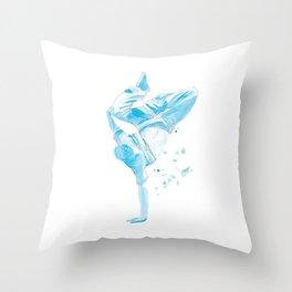 The Breakdancer Throw Pillow