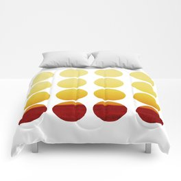 Warm Yellow Polka Dots Graphic Design Minimalist Design Endless Pattern Comforters