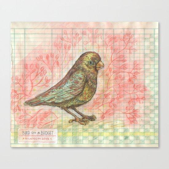 Bird on a Budget Canvas Print