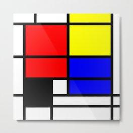 Mondrianista Metal Print